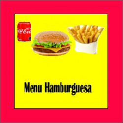 Menu Hamburguesa